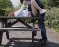 【個人撮影】最初のデートがいきなり青空SEX!出会い系アプリで知り合った四十路熟女はスーパード変態www【熟女】