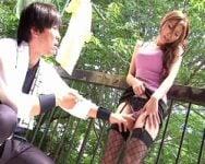 【人妻】ベランダハンティング!欲求不満の人妻はテリトリーに入り込む獲物をベランダから常に狙ってる! 椎名ゆな