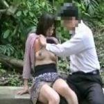 【個人撮影】ドマゾ人妻との青姦ハメ撮りの一部始終!フィニッシュは大量の白濁チン汁を顔面ぶっぱwwww【人妻】