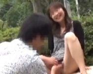 【個人撮影】誰かに見られているかもしれない…スリルと開放感で自然と零れる笑顔!青空SEXを愉しむ青姦フリークたち【熟女】