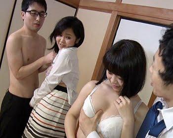 【NTR】愛する妻が目の前で他人棒に抱かれている様を見ながら他人嫁をパコる!スワッピング交尾にハマる二組の変態夫婦
